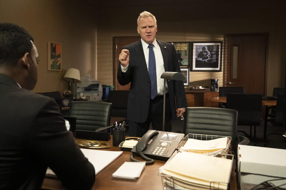 """LAW AND ORDER SVU Season 22 Episode 16 -- """"Wolves in Sheep's Clothing"""" Episode 22016 -- Pictured: Terry Serpico as Chief McGrath -- (Photo by: Virginia Sherwood/NBC)"""