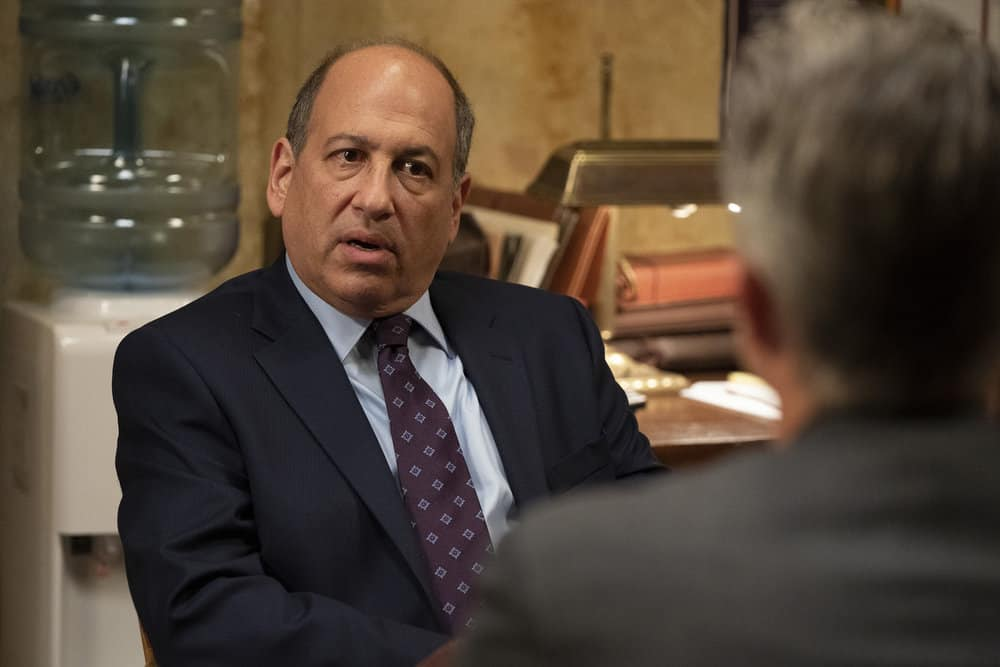"""LAW AND ORDER SVU Season 22 Episode 16 -- """"Wolves in Sheep's Clothing"""" Episode 22016 -- Pictured: Michael Kostroff as Counselor Evan Braun -- (Photo by: Virginia Sherwood/NBC)"""