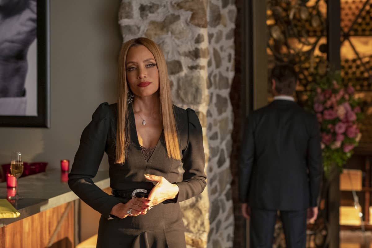 """DYNASTY Season 4 Episode 5 -- """"New Hopes, New Beginnings"""" -- Image Number: DYN405a_0331r.jpg -- Pictured: Michael Michele as Dominique Deveraux -- Photo: Wilford Harewood/The CW -- © 2021 The CW Network, LLC. All Rights Reserved"""