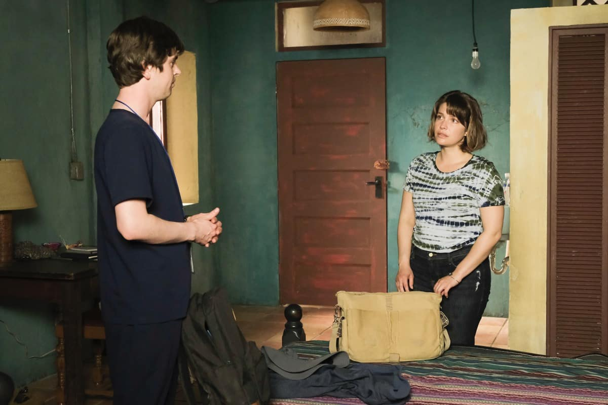"""THE GOOD DOCTOR Season 4 Episode 20 - """"Vamos"""" – Dr. Shaun Murphy must perform a risky surgery on a patient without electricity when the power suddenly goes out at the hospital in Guatemala. Additionally, Dr. Lim and Dr. Mateo Rendón Osma's relationship deepens as they overcome difficulties during their surgery in part two of the season finale of """"The Good Doctor,"""" MONDAY, JUNE 7 (10:00-11:00 p.m. EDT), on ABC. (ABC/Jeff Weddell) FREDDIE HIGHMORE, PAIGE SPARA"""