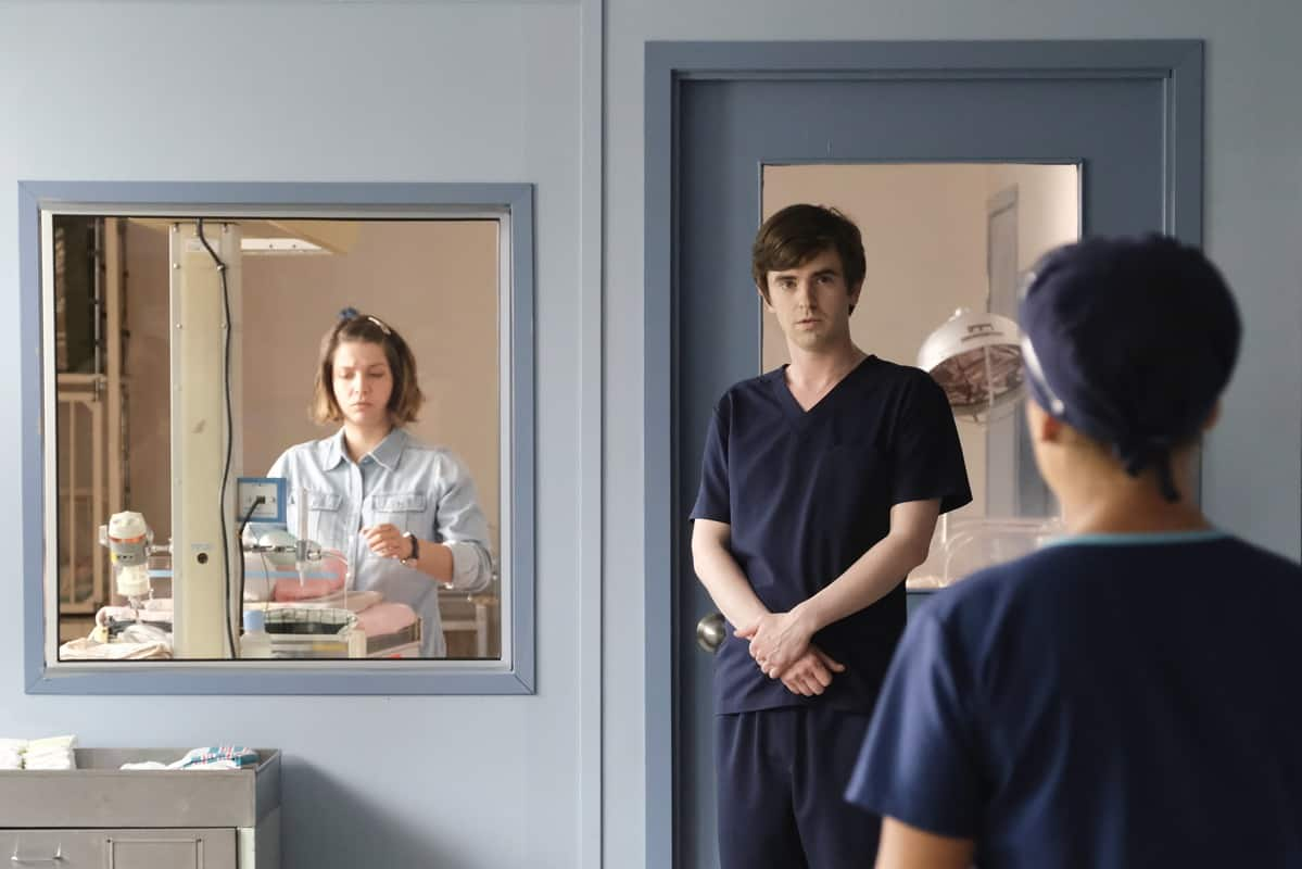 """THE GOOD DOCTOR Season 4 Episode 20 - """"Vamos"""" – Dr. Shaun Murphy must perform a risky surgery on a patient without electricity when the power suddenly goes out at the hospital in Guatemala. Additionally, Dr. Lim and Dr. Mateo Rendón Osma's relationship deepens as they overcome difficulties during their surgery in part two of the season finale of """"The Good Doctor,"""" MONDAY, JUNE 7 (10:00-11:00 p.m. EDT), on ABC. (ABC/Jeff Weddell) FREDDIE HIGHMORE"""
