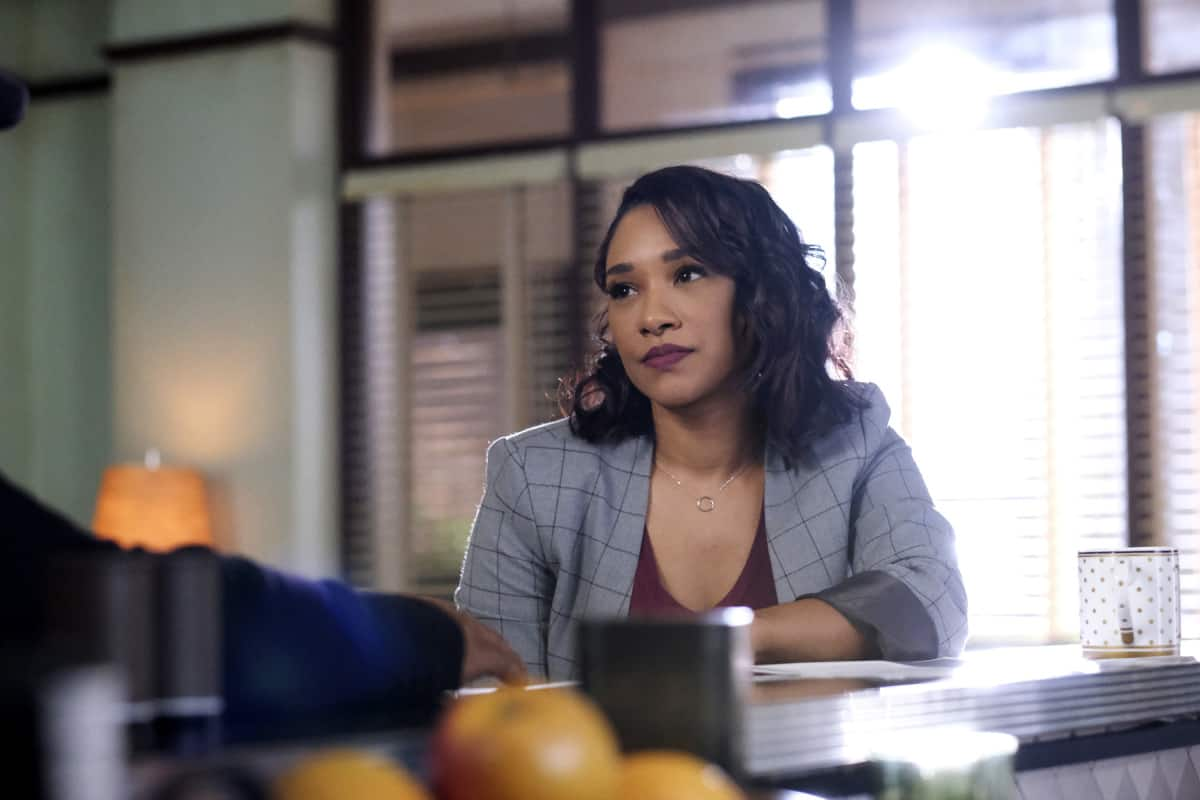 """THE FLASH Season 7 Episode 12-- """"Good-Bye Vibrations"""" -- Image Number: FLA712a_0211r.jpg -- Pictured:  Candice Patton as Iris West - Allen -- Photo: Bettina Strauss/The CW -- © 2021 The CW Network, LLC. All Rights Reserved.Photo Credit: Bettina Strauss"""