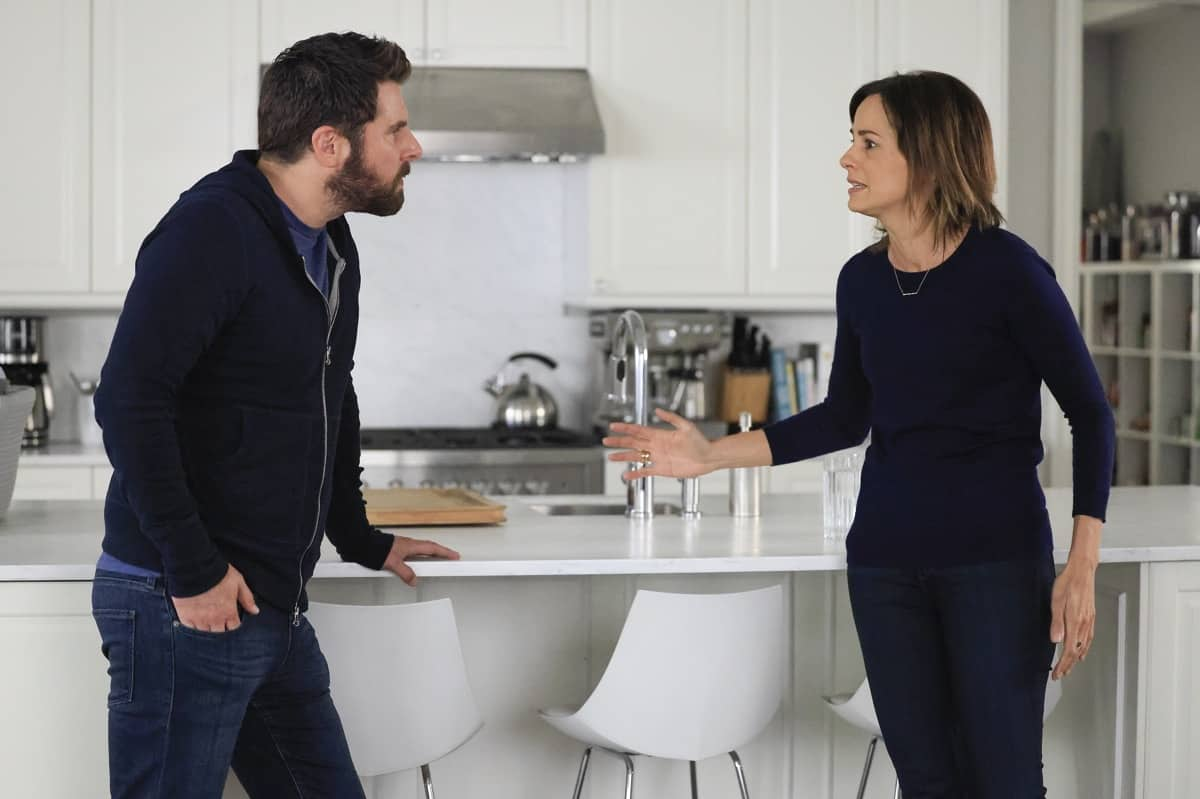 """A MILLION LITTLE THINGS Season 3 Episode 18 - """"justice: part 1""""/""""justice: part 2"""" – Sophie seeks justice for her trauma, and Maggie forces Gary to take a hard look at himself and his relationships. Meanwhile, Eddie goes to extreme measures to fight for his family, and Rome and Regina make big changes for their future on the two-hour season finale of """"A Million Little Things,"""" WEDNESDAY, JUNE 9 (9:00-11:00 p.m. EDT), on ABC. (ABC/Jack Rowand) JAMES RODAY RODRIGUEZ, STEPHANIE SZOSTAK"""