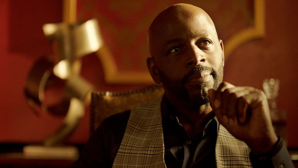 """QUEEN OF THE SOUTH Season 5 Episode 10 -- """"El Final"""" Episode 510 -- Pictured in this screengrab: Alimi Ballard as Marcel Dumas -- (Photo by: USA Network)"""