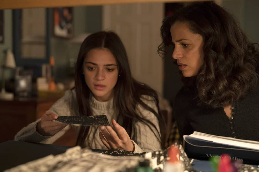 """MANIFEST Season 3 Episode 13 -- """"MAYDAY PART: 2"""" Episode 313 -- Pictured: (l-r) Luna Blaise as Olive Stone, Athena Karkanis as Grace Stone -- (Photo by: Peter Kramer/NBC)"""
