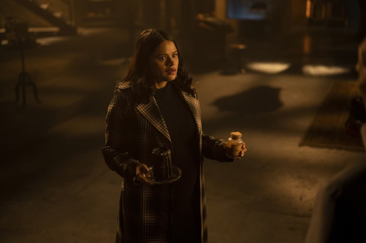 """CHARMED Season 3 Episode 14 -- """"Perfecti is the Enemy of the Good"""" -- Image Number: CMD314a_0242r -- Pictured: Melonie Diaz as Mel Vera -- Photo: Kailey Schwerman/The CW -- © 2021 The CW Network, LLC. All Rights Reserved."""