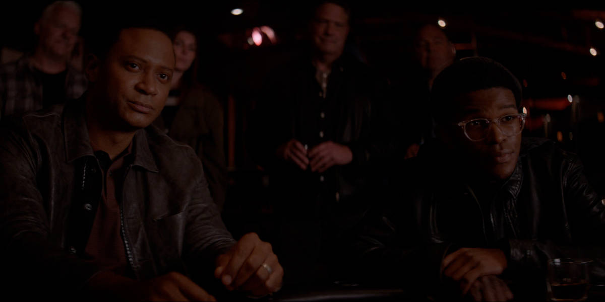 """BATWOMAN Season 2 Episode 16 -- """"Rebirth"""" -- Image Number: BWN216fg_0034r  -- Pictured (L-R): David Ramsey as John Diggle and Camrus Johnson as Luke Fox -- Photo: The CW -- © 2021 The CW Network, LLC. All Rights Reserved."""