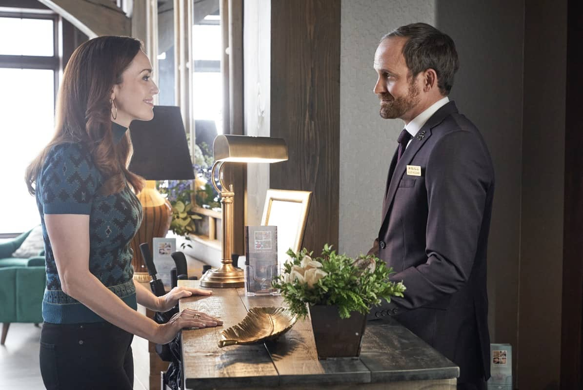 GOOD WITCH Season 7 Episode 5 The Merriwick cousins go on a journey in search of a missing piece of Joy's past.  Photo: Sarah Power, Trevor Hayes Credit: © 2021 Crown Media United States LLC / Photographer: Peter Stranks