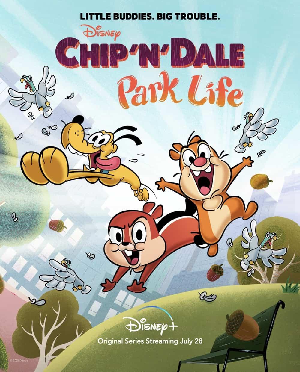 Chip N Dale Park Life Poster Key Art Disney+