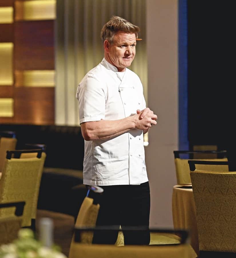 "HELL'S KITCHEN Season 20 Episode 4: Chef/host Gordon Ramsay in the ""Young Guns: Young Guns Going Big"" episode airing Monday, June 21 (8:00-9:00 PM ET/PT) on FOX. CR: Scott Kirkland / FOX. © 2021 FOX MEDIA LLC."