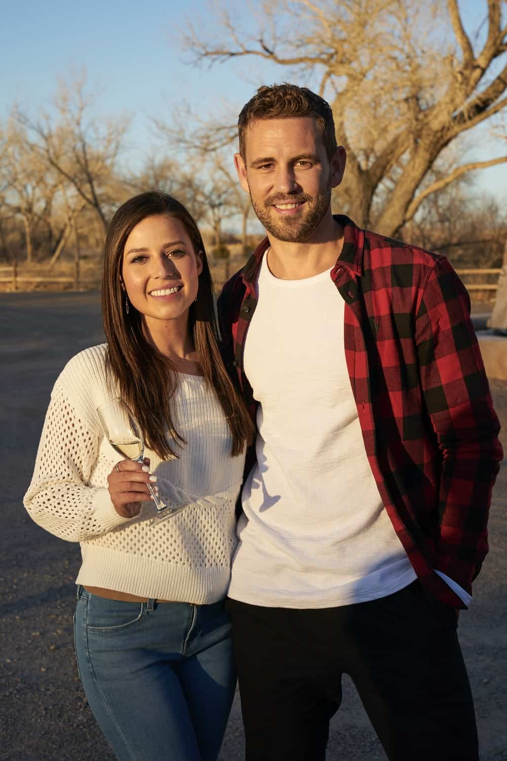 """THE BACHELORETTE SEASON 17 Episode 3 - """"1703"""" – Picking up during a heated cocktail party, Katie reminds the men that anyone not here for the right reasons can see themselves out. On the group date, former Bachelor Nick Viall helps the men share some of their personal stories. Moved by their honesty, Katie courageously opens up about her own story in a heart-wrenching moment. Later, Katie literally flips head over heels for her one-on-one date with Michael A., who opens up with a deeply heartfelt story of how he decided to follow his heart to New Mexico, and drama begins to boil over in the house. Is someone still here for the wrong reasons? An all-new """"The Bachelorette"""" airs MONDAY, JUNE 21 (8:00-10:00 p.m. EDT), on ABC. (ABC/Craig Sjodin) NICK VIALL, KATIE THURSTON"""