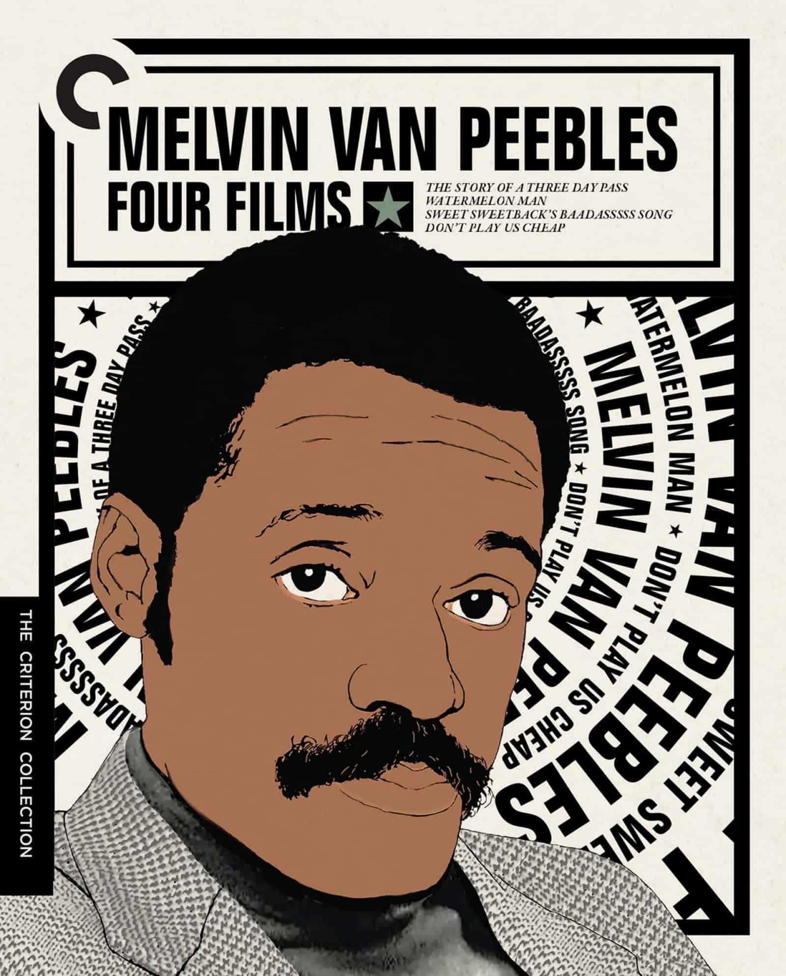 Melvin Van Peebles Four Films Blu ray Cover
