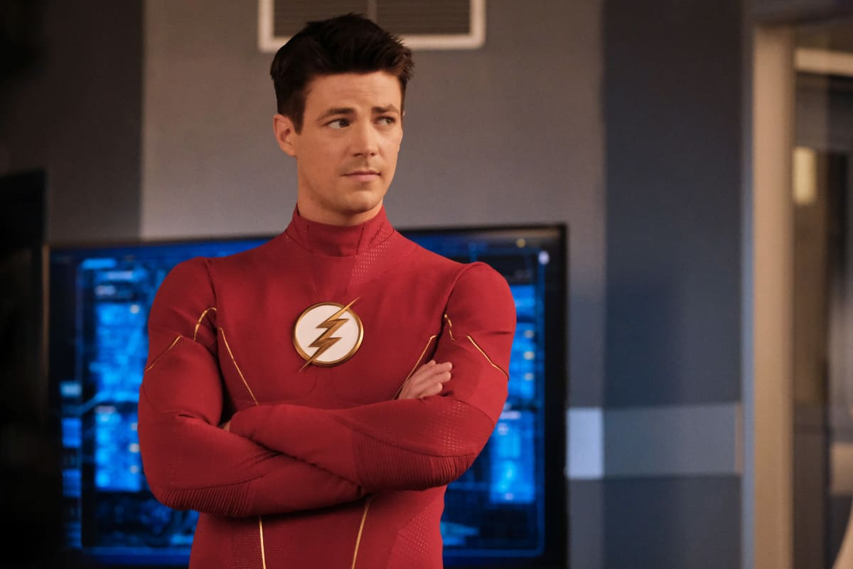 """THE FLASH Season 7 Episode 17 -- """"Heart of the Matter, Part 1"""" -- Image Number: FLA717a_0043r.jpg -- Pictured: Grant Gustin as Barry Allen/The Flash -- Photo: Bettina Strauss/The CW -- © 2021 The CW Network, LLC. All Rights Reserved"""