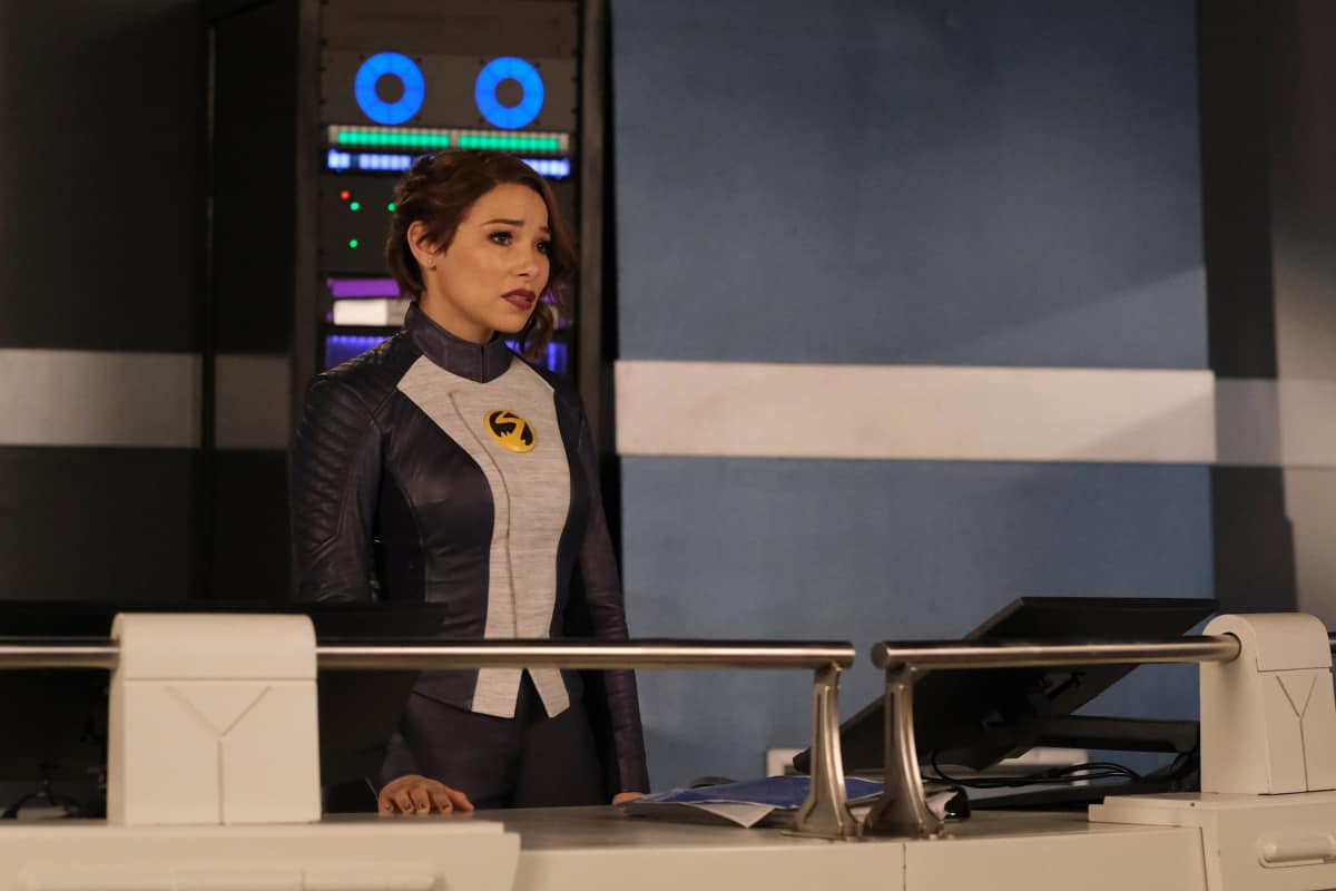 """THE FLASH Season 7 Episode 17 -- """"Heart of the Matter, Part 1"""" -- Image Number: FLA717a_0r.jpg -- Pictured (L-R): Jessica Parker Kennedy as Nora/XS -- Photo: Bettina Strauss/The CW -- © 2021 The CW Network, LLC. All Rights Reserved"""