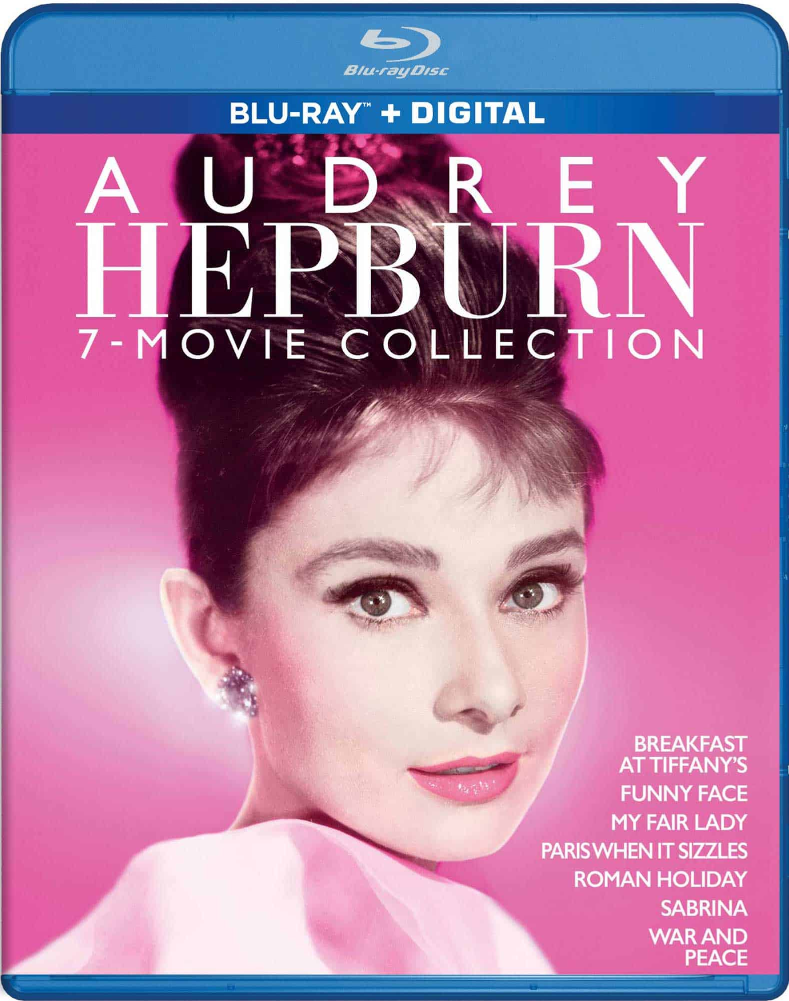 Audrey Hepburn 7 Film Collection Bluray cover