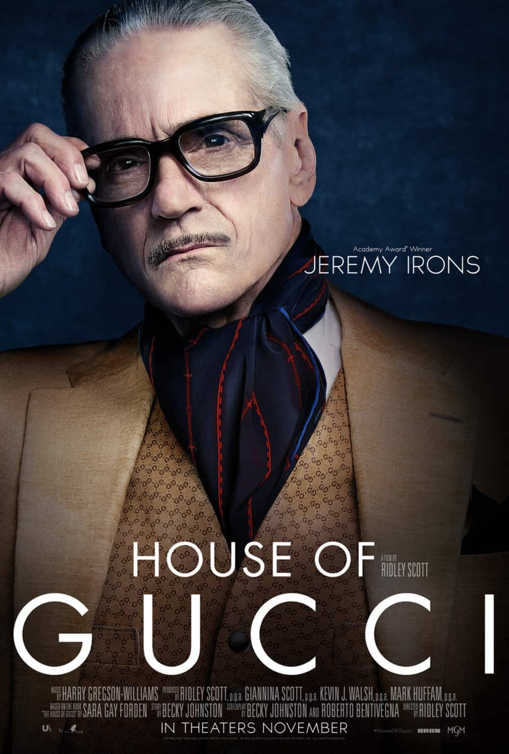 House Of Gucci Jeremy Irons Character Poster