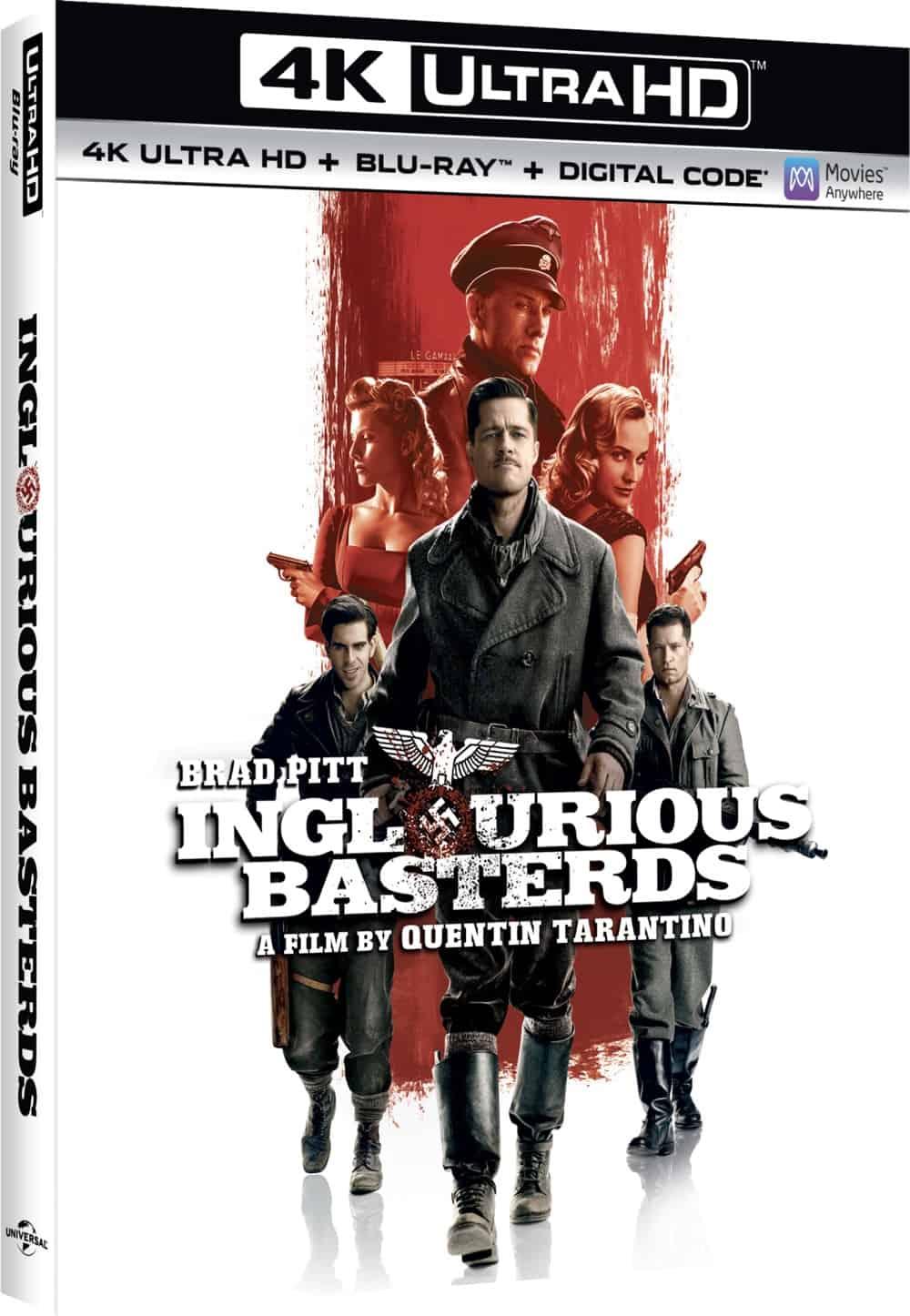 Inglourious Basterds 4K Box Cover Artwork