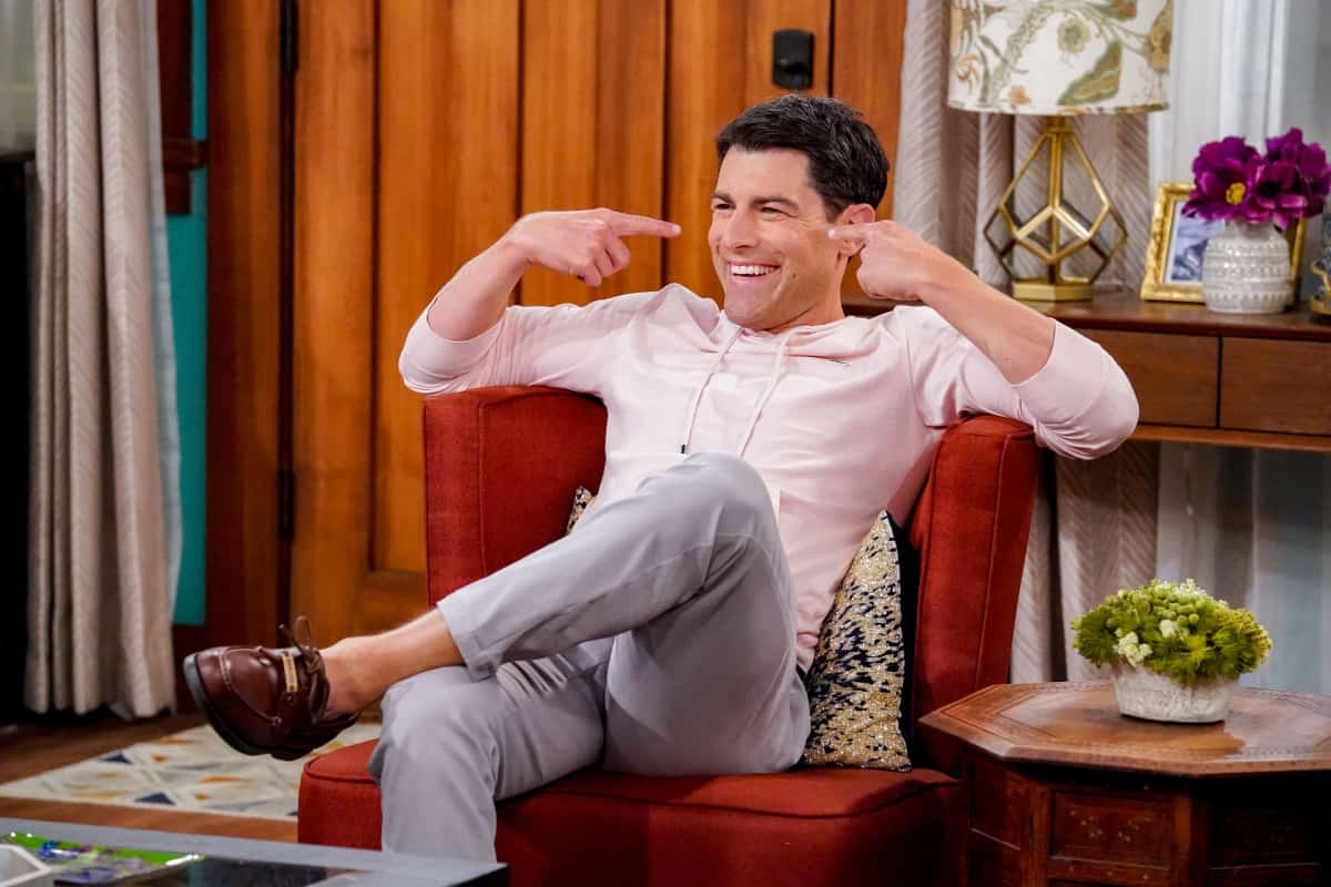 """THE NEIGHBORHOOD Season 4 Episode 1 """"Welcome to the Family"""" - Pictured: Max Greenfield (Dave Johnson). When Dave starts researching his genealogy, he makes a surprising discovery: He and Calvin are more than just neighbors. Also, Tina offers to help Gemma when she's overcome with morning sickness, and inadvertently stumbles on a new business idea, on the fourth season premiere of THE NEIGHBORHOOD, Monday, Sept. 20 (8:00-8:30 PM, ET/PT) on the CBS Television Network and available to stream live and on demand on the CBS app and Paramount+. Photo: Monty Brinton/CBS ©2021 CBS Broadcasting, Inc. All Rights Reserved."""