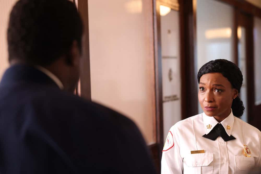 """CHICAGO FIRE Season 10 Episode 1 -- """"Mayday"""" Episode 1001 -- Pictured: J. Nicole Brooks as Gloria Hill -- (Photo by: Adrian S. Burrows Sr./NBC)"""