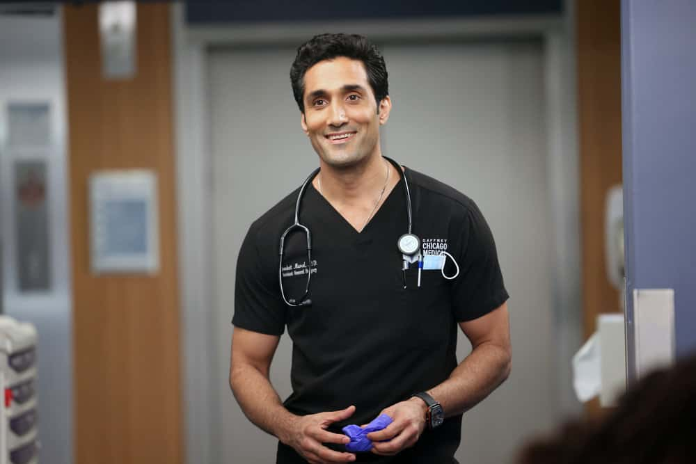"""CHICAGO MED Season 7 Episode 1 -- """"You Can't Always Trust What You See"""" Episode 701 -- Pictured: Dominic Rains as Crockett Marcel -- (Photo by: George Burns Jr/NBC)"""
