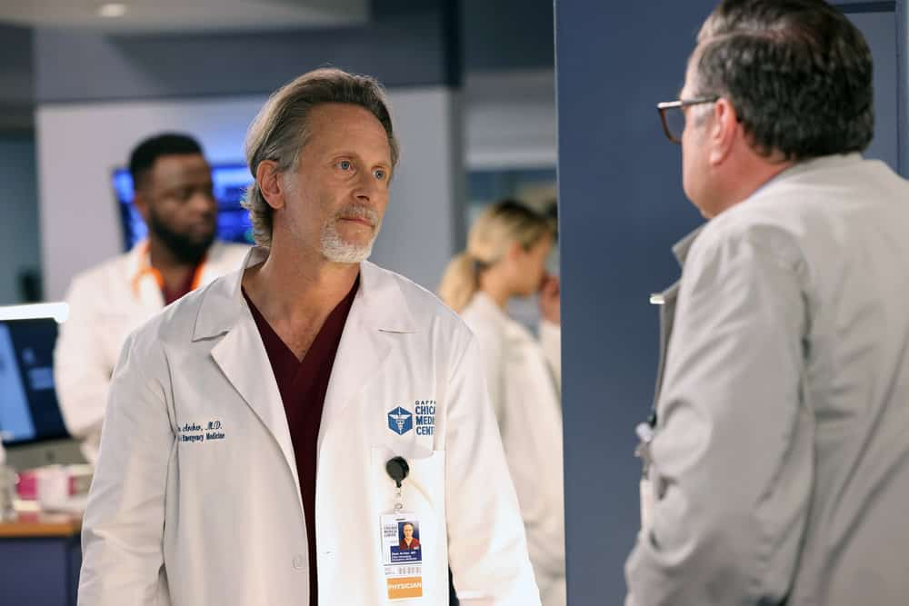 """CHICAGO MED Season 7 Episode 1 -- """"You Can't Always Trust What You See"""" Episode 701 -- Pictured: Steven Weber as Dr. Dean Archer -- (Photo by: George Burns Jr/NBC)"""