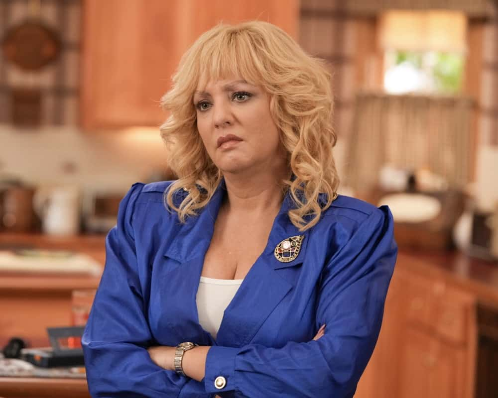 """THE GOLDBERGS Season 9 Episode 1 - """"The Goldbergs' Excellent Adventure"""" – The season nine premiere revolves around the iconic '80s family paying tribute to Pops. Together they venture down memory lane by visiting Pops' favorite stomping grounds. Adam Goldberg, forever with camera in hand, captures the outing – theming it to """"Bill and Ted's Excellent Adventure."""" Hijinks and hilarity ensue, and we are reminded that there is no bond greater than family on """"The Goldbergs"""" airing SEPT. 22 (8:00-8:30 p.m. EDT), on ABC. (ABC/Scott Everett White) WENDI MCLENDON-COVEY"""