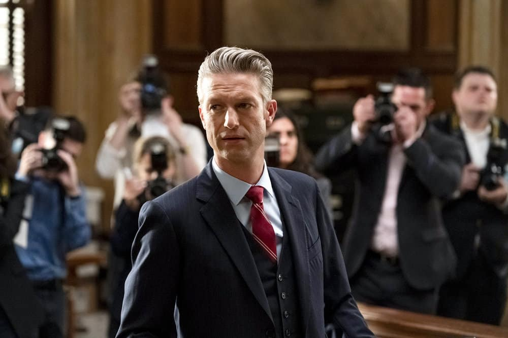 """LAW AND ORDER SVU Season 23 Episode 1 -- """"And the Empire Strikes Back"""" Episode 23001 -- Pictured: Peter Scanavino as Assistant District Attorney Sonny Carisi -- (Photo by: Heidi Gutman/NBC)"""