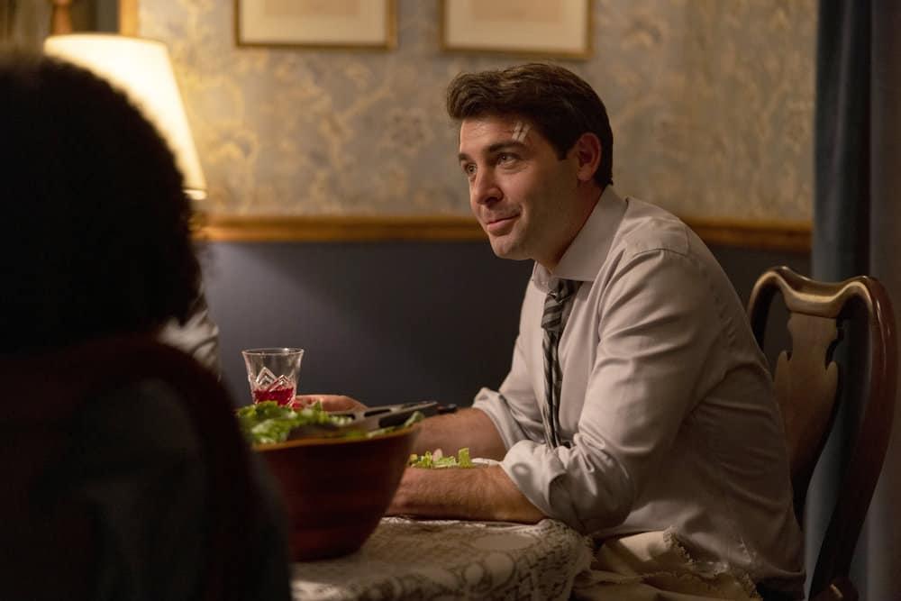 "ORDINARY JOE Season 1 Episode 2 -- Episode 102 ""Requiem"" -- Pictured: James Wolk as Joe Kimbreau -- (Photo by: Fernando Decillis/NBC)"