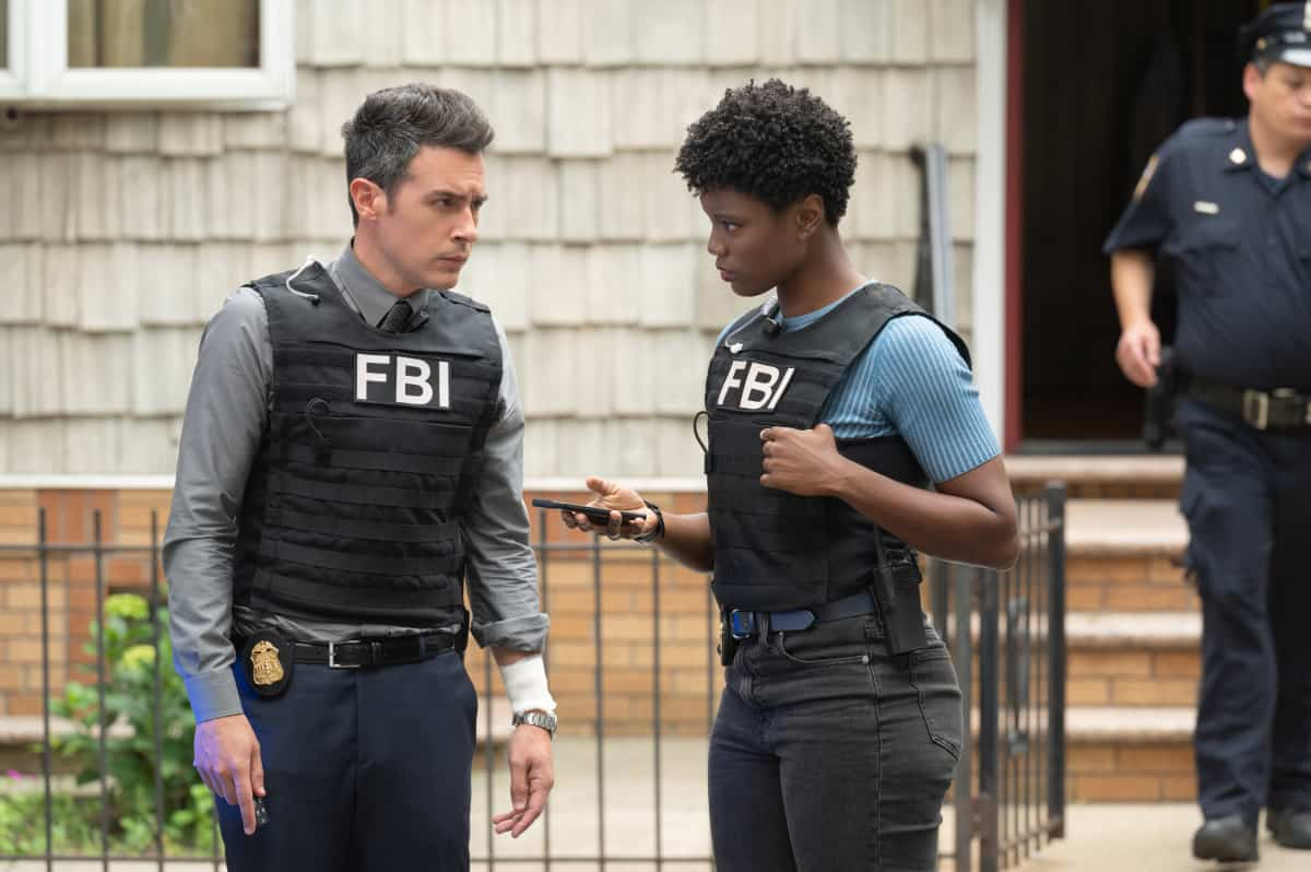 """FBI Season 4 Episode 2 """"Hacktivist"""" - Maggie, OA and the team must stop a hacker who is disabling life-saving equipment in several New York City hospitals while demanding a full investigation into the recently deceased patients of a local psychiatric facility. With Jubal's son waiting for important surgery at one of the impacted hospitals, Jubal's adamant about remaining involved in the case despite Isobel's reservations, on FBI, Tuesday, Sept. 28 (8:00-9:00 PM, ET/PT) on the CBS Television Network and available to stream live and on demand on Paramount+. Pictured (L-R) John Boyd as Special Agent Stuart Scola and Katherine Renee Turner as Special Agent Tiffany Wallace Photo: David M. Russell/CBS ©2021 CBS Broadcasting, Inc. All Rights Reserved"""