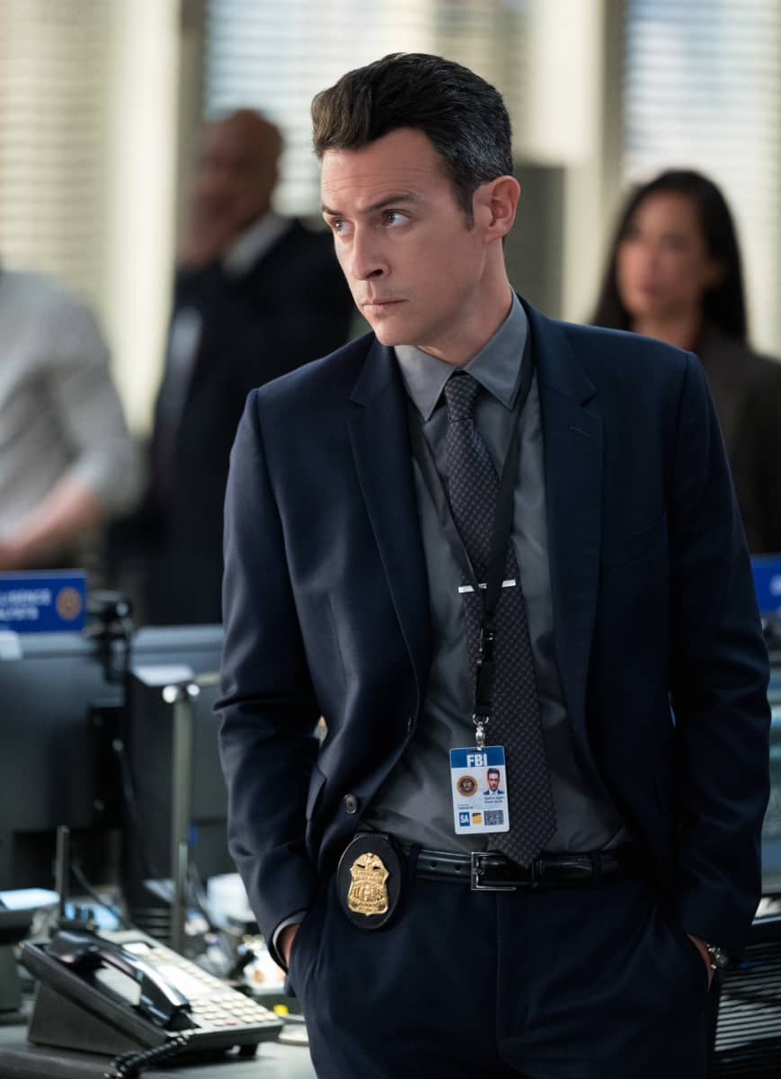 """FBI Season 4 Episode 2 """"Hacktivist"""" - Maggie, OA and the team must stop a hacker who is disabling life-saving equipment in several New York City hospitals while demanding a full investigation into the recently deceased patients of a local psychiatric facility. With Jubal's son waiting for important surgery at one of the impacted hospitals, Jubal's adamant about remaining involved in the case despite Isobel's reservations, on FBI, Tuesday, Sept. 28 (8:00-9:00 PM, ET/PT) on the CBS Television Network and available to stream live and on demand on Paramount+. Pictured John Boyd as Special Agent Stuart Scola Photo: David M. Russell/CBS ©2021 CBS Broadcasting, Inc. All Rights Reserved"""