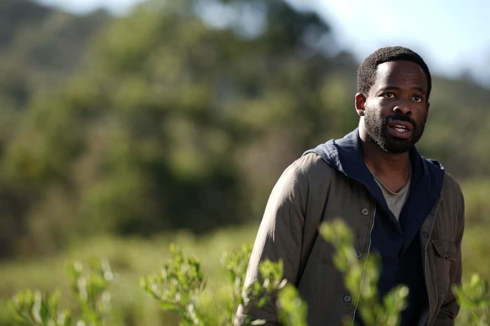 "LA BREA Season 1 Episode 1 -- ""Pilot"" -- Pictured: Chiké Okonkwo as Ty Coleman -- (Photo by: Sarah Enticknap/NBC)"