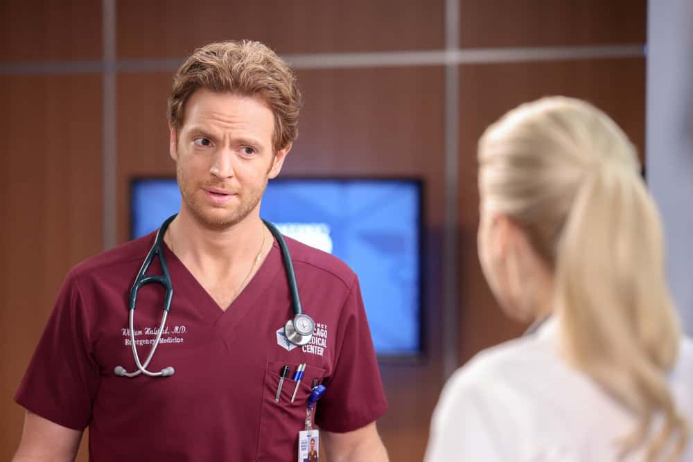 """CHICAGO MED Season 7 Episode 2-- """"To Lean In Or To Let Go"""" Episode 702 -- Pictured: Nick Gehlfuss as Dr. Will Halstead -- (Photo by: George Burns Jr/NBC)"""