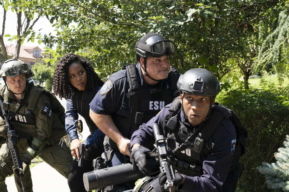 """LAW AND ORDER SVU Season 23 Episode 3 -- """"I Thought You Were on My Side"""" Episode 23002 -- Pictured: Danielle Moné Truitt as Sgt. Ayanna Bell -- (Photo by: Virginia Sherwood/NBC)"""
