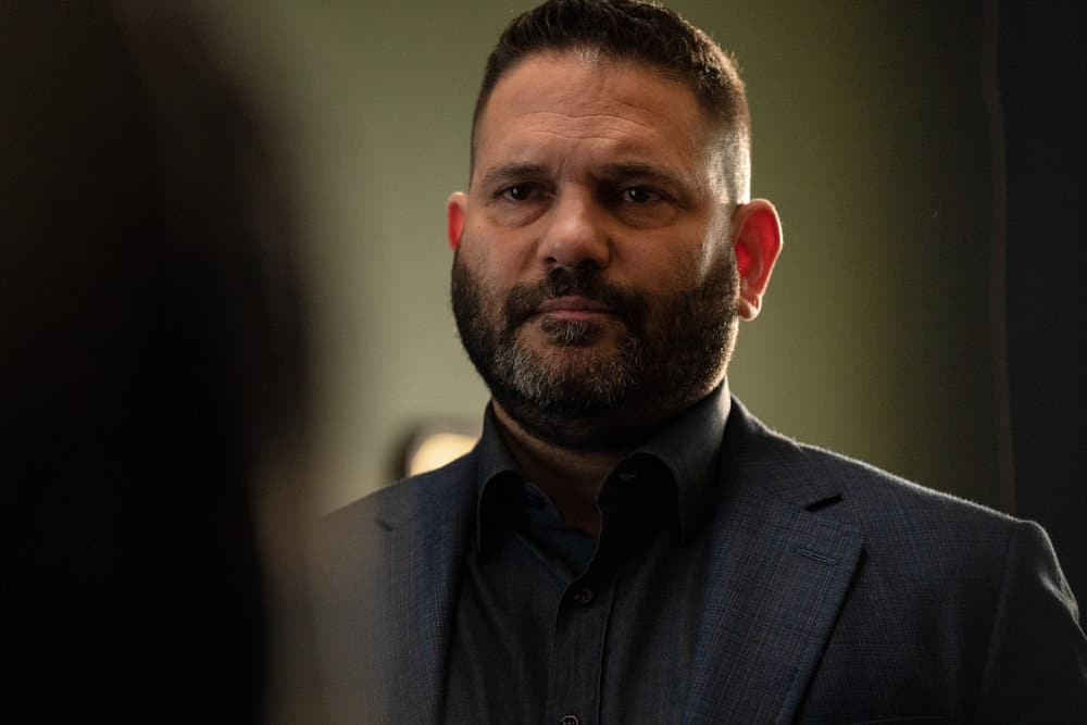 """LAW AND ORDER ORGANIZED CRIME Season 2 Episode 3 -- """"The Outlaw Eddie Wagner"""" Episode 203 -- Pictured: Guillermo Diaz as Sgt. Bill Brewster -- (Photo by: Virginia Sherwood/NBC)"""