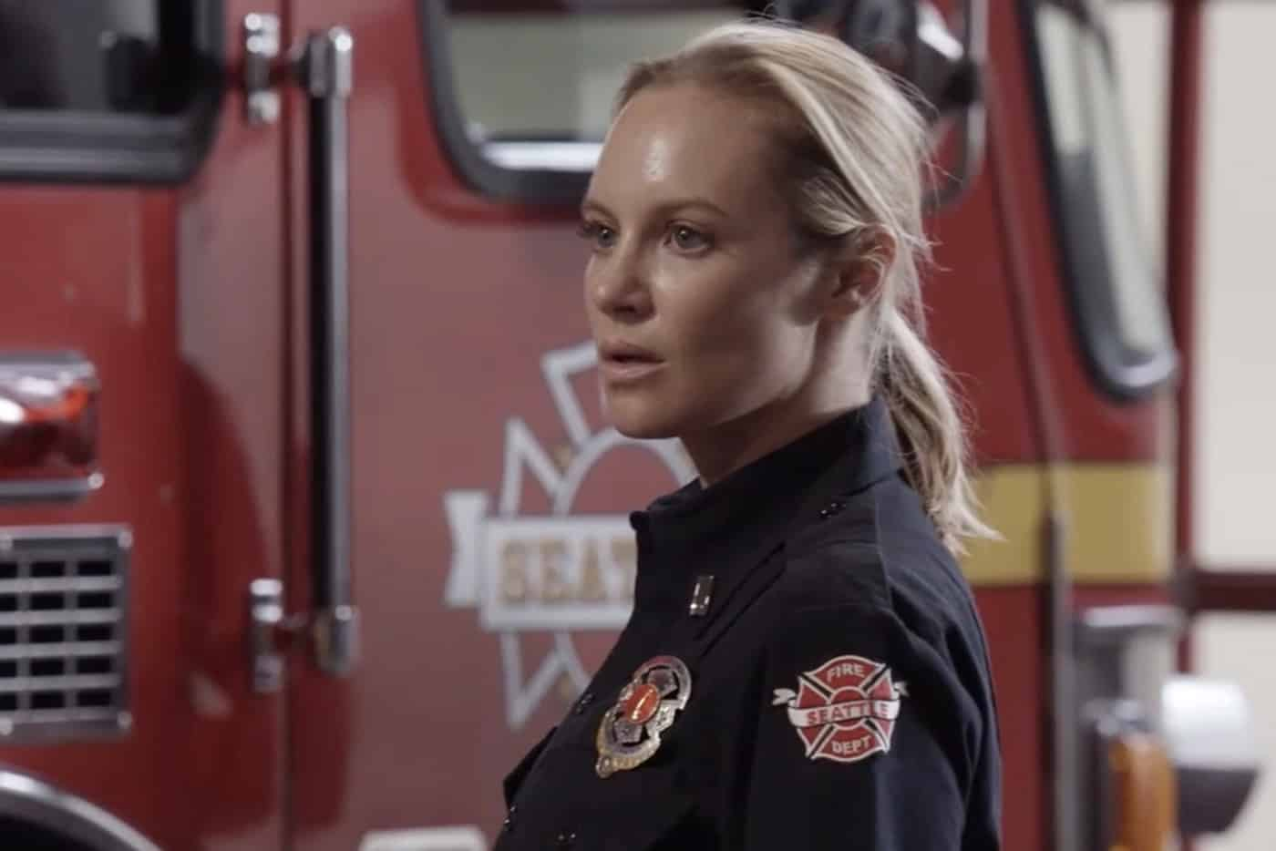"""STATION 19 Season 5 Episode 1 - """"Phoenix from the Flame"""" – Relationships are challenged at Station 19 following Sullivan's actions at Maya and Carina's wedding, putting his marriage with Andy to the test. Dean comes to terms with his feelings for Vic, while Travis rekindles an old flame. The annual Phoenix Festival brings out some reckless behavior in some of Seattle's citizens, challenging the teams at Station 19 and Grey Sloan Memorial in the season premiere of """"Station 19,"""" THURSDAY, SEPT. 30 (8:00-9:00 p.m. EDT), on ABC. (ABC) DANIELLE SAVRE"""
