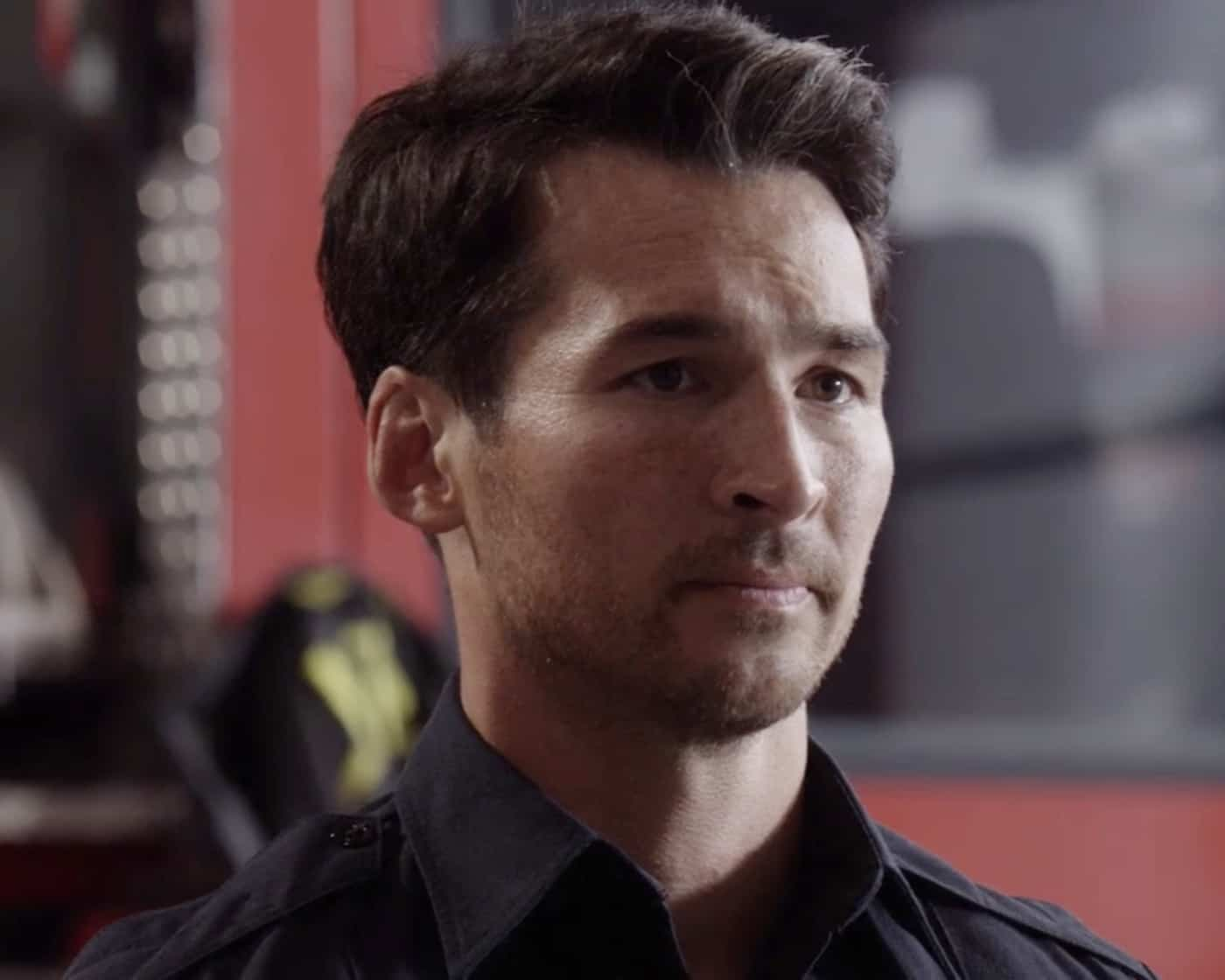 """STATION 19 Season 5 Episode 1 - """"Phoenix from the Flame"""" – Relationships are challenged at Station 19 following Sullivan's actions at Maya and Carina's wedding, putting his marriage with Andy to the test. Dean comes to terms with his feelings for Vic, while Travis rekindles an old flame. The annual Phoenix Festival brings out some reckless behavior in some of Seattle's citizens, challenging the teams at Station 19 and Grey Sloan Memorial in the season premiere of """"Station 19,"""" THURSDAY, SEPT. 30 (8:00-9:00 p.m. EDT), on ABC. (ABC) JAY HAYDEN"""