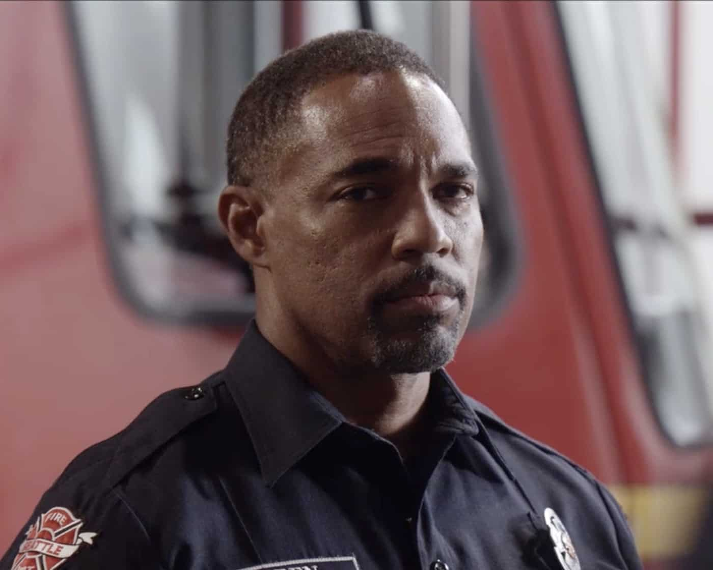 """STATION 19 Season 5 Episode 1 - """"Phoenix from the Flame"""" – Relationships are challenged at Station 19 following Sullivan's actions at Maya and Carina's wedding, putting his marriage with Andy to the test. Dean comes to terms with his feelings for Vic, while Travis rekindles an old flame. The annual Phoenix Festival brings out some reckless behavior in some of Seattle's citizens, challenging the teams at Station 19 and Grey Sloan Memorial in the season premiere of """"Station 19,"""" THURSDAY, SEPT. 30 (8:00-9:00 p.m. EDT), on ABC. (ABC) JASON GEORGE"""