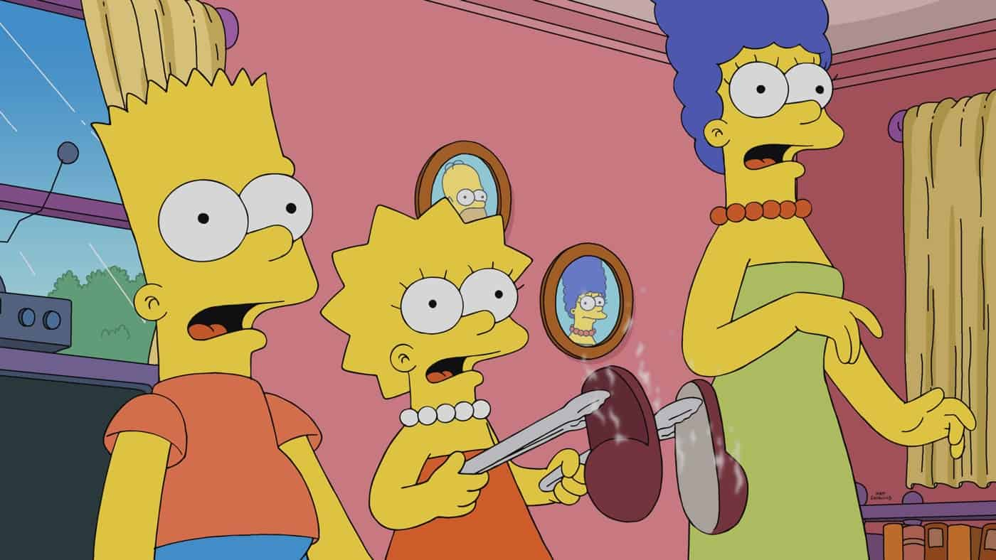 """THE SIMPSONS Season 33 Episode 2: When Grampa falls victim to a phone scammer, the Simpsons set out on a mission of vengeance to get his money back in the """"Bart's in Jail"""" episode of THE SIMPSONS airing Sunday, Oct. 3 (8:00-8:30 PM ET/PT) on FOX. THE SIMPSONS © 2021 by 20th Television."""