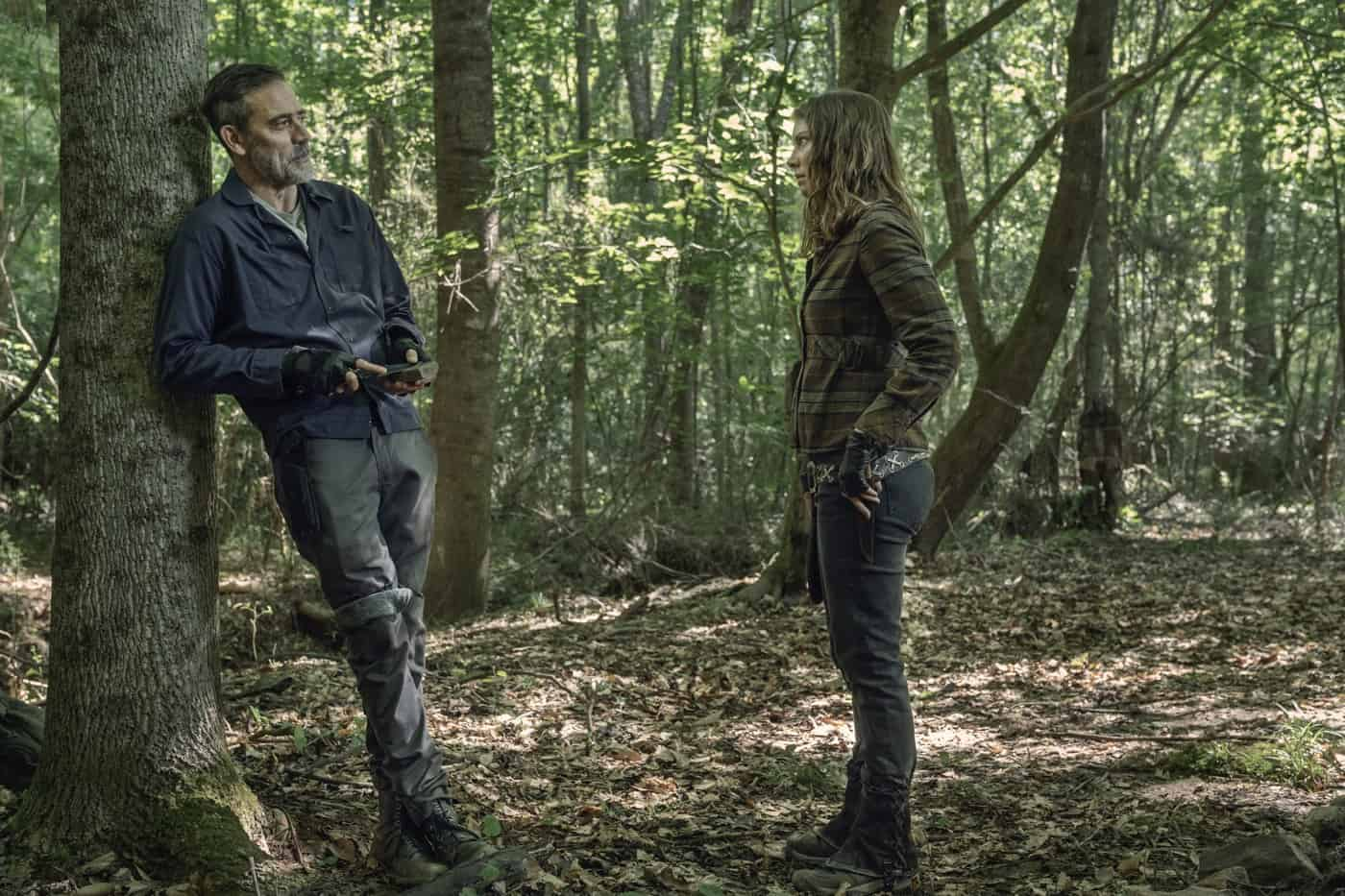 THE WALKING DEAD Season 11 Episode 7 Jeffrey Dean Morgan as Negan, Lauren Cohan as Maggie Rhee - The Walking Dead _ Season 11, Episode 7 - Photo Credit: Josh Stringer/AMC