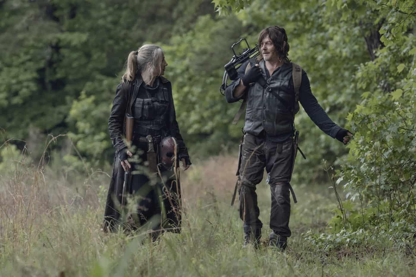 THE WALKING DEAD Season 11 Episode 7 Norman Reedus as Daryl Dixon, Lynn Collins as Leah - The Walking Dead _ Season 11, Episode 7 - Photo Credit: Josh Stringer/AMC