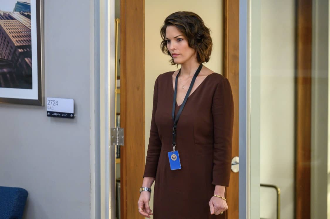 """FBI Season 4 Episode 3 """"Trauma"""" – After the team finds a connection between bombings at government agencies and a private veterans' club in New York City, Isobel tells OA to recruit his former Army buddy, Chris (Cleveland Berto), for intel since he spends time at the club. However, knowing the difficulty soldiers like Chris often face returning to civilian life, OA is reluctant to follow orders, on the CBS Original series FBI, Tuesday, Oct. 5 (8:00-9:00 PM, ET/PT) on the CBS Television Network, and available to stream live and on demand on Paramount+. Pictured Alana De La Garza as Special Agent in Charge Isobel Castille Photo: David M. Russell/CBS ©2021 CBS Broadcasting, Inc. All Rights Reserved"""