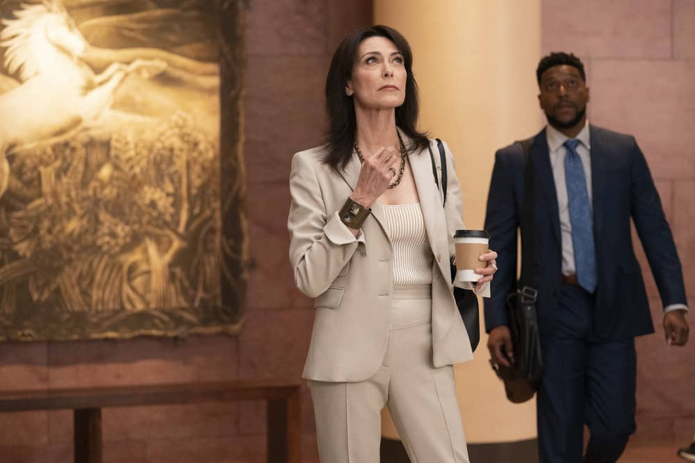 """NEW AMSTERDAM Season 4 Episode 3 -- """"Same As It Ever Was"""" Episode 403 -- Pictured: (l-r) Mishka Forbes as Dr. Veronica Fuentes, Jocko Sims as Floyd Reynolds -- (Photo by: Virginia Sherwood/NBC)"""