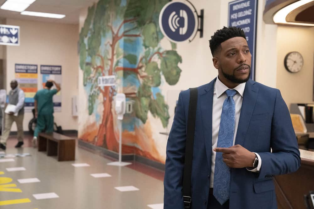 """NEW AMSTERDAM Season 4 Episode 3 -- """"Same As It Ever Was"""" Episode 403 -- Pictured: Jocko Sims as Floyd Reynolds -- (Photo by: Virginia Sherwood/NBC)"""