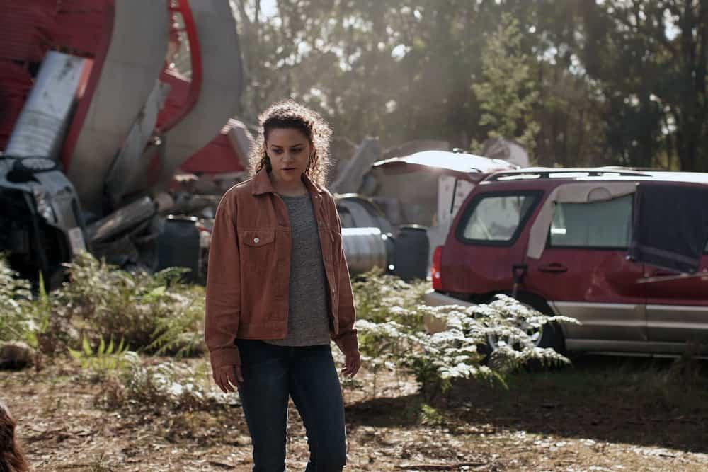 "LA BREA Season 1 Episode 2 -- ""Day Two"" Episode 102 -- Pictured: Lily Santiago as Veronica Castillo -- (Photo by: Sarah Enticknap/NBC)"