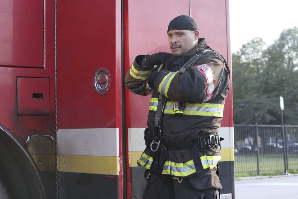 "CHICAGO FIRE Season 10 Episode 3 -- ""Counting Your Breaths"" Episode 1003 -- Pictured: Joe Minoso as Joe Cruz -- (Photo by: Adrian S. Burrows Sr./NBC)"