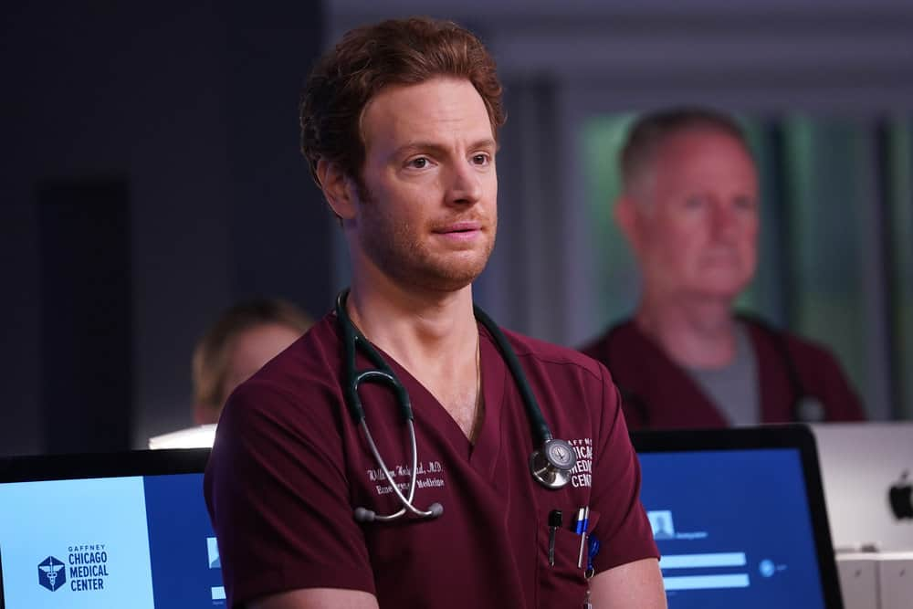 """CHICAGO MED Season 7 Episode 3 -- """"Be The Change You Want To See"""" Episode 703 -- Pictured: Nick Gehlfuss as Dr. Will Halstead -- (Photo by: Lori Allen/NBC)"""