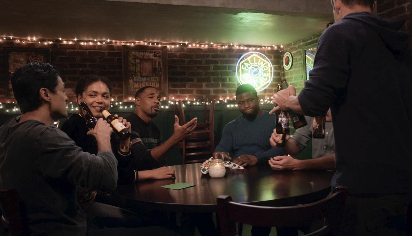 """STATION 19 Season 5 Episode 2 - """"Can't Feel My Face"""" – Andy and Sullivan's relationship continues to be tested. Meanwhile, Emmett joins Dean and Vic on a mental health call, and Maya does some soul searching on a new episode of """"Station 19,"""" THURSDAY, OCT. 7 (8:00-9:00 p.m. EDT), on ABC. (ABC) JASON GEORGE, OKIERIETE ONAODOWAN"""