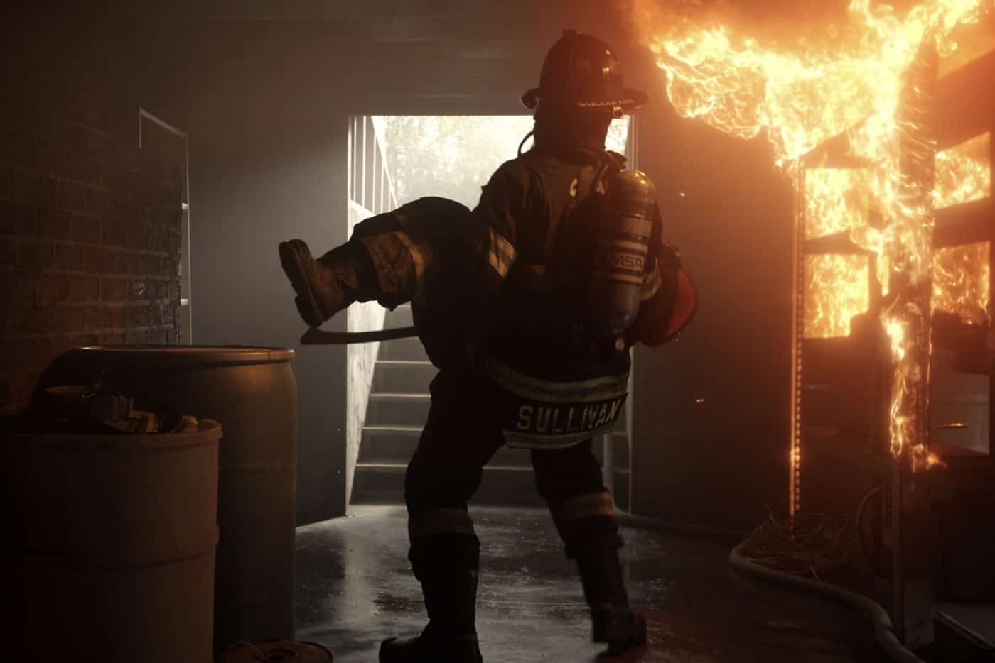 """STATION 19 Season 5 Episode 2 - """"Can't Feel My Face"""" – Andy and Sullivan's relationship continues to be tested. Meanwhile, Emmett joins Dean and Vic on a mental health call, and Maya does some soul searching on a new episode of """"Station 19,"""" THURSDAY, OCT. 7 (8:00-9:00 p.m. EDT), on ABC. (ABC) STATION 19"""
