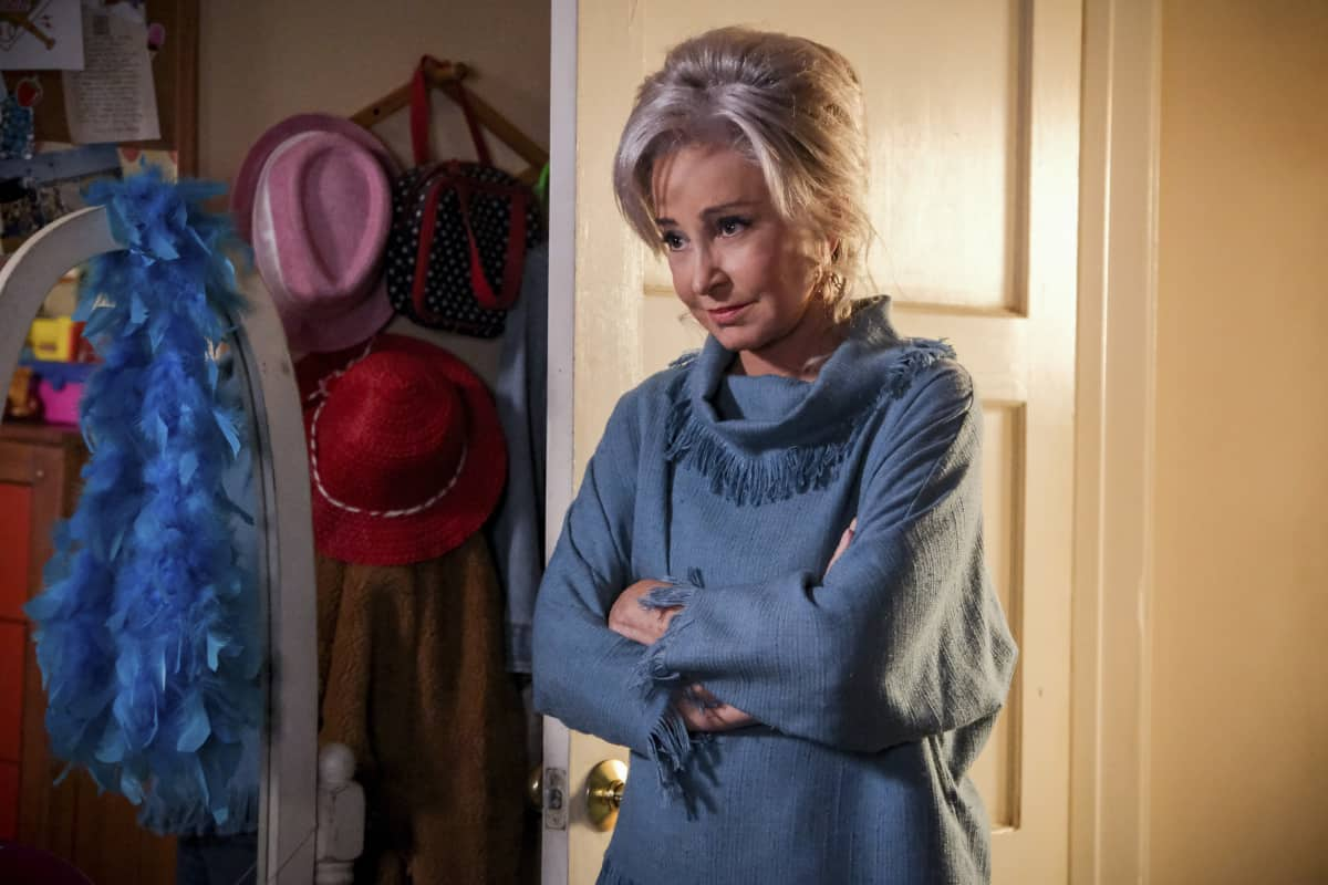"""YOUNG SHELDON Season 5 Episode 1 """"One Bad Night and Chaos of Selfish Desires"""" - Pictured: Meemaw (Annie Potts). Sheldon and Missy both run away from home, and Mary gets upsetting news about George, Sr., on the fifth season premiere of YOUNG SHELDON, Thursday, Oct. 7 (8:00-8:31 PM, ET/PT) on the CBS Television Network and available to stream live and on demand on Paramount+.   Photo Credit: Darren Michaels ©2021 Warner Bros. Entertainment Inc. All Rights Reserved."""