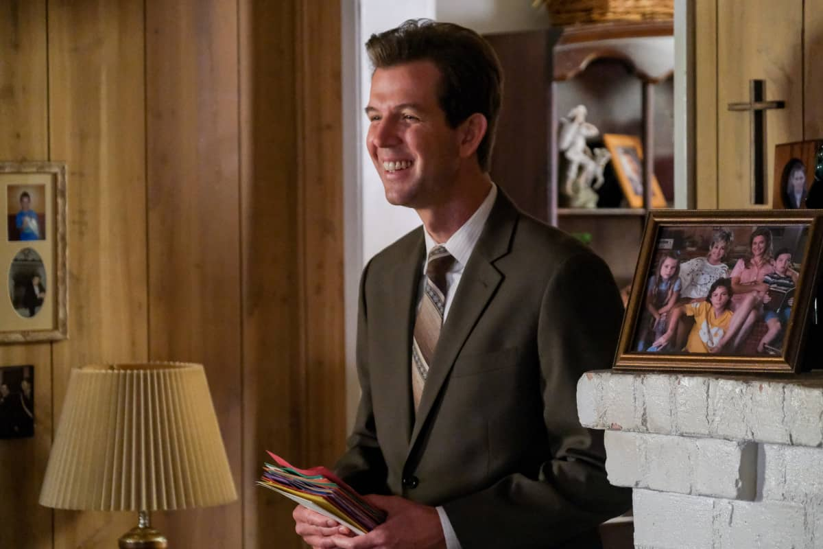 """YOUNG SHELDON Season 5 Episode 1 """"One Bad Night and Chaos of Selfish Desires"""" - Pictured: Pastor Jeff (Matt Hobby). Sheldon and Missy both run away from home, and Mary gets upsetting news about George, Sr., on the fifth season premiere of YOUNG SHELDON, Thursday, Oct. 7 (8:00-8:31 PM, ET/PT) on the CBS Television Network and available to stream live and on demand on Paramount+.   Photo Credit: Darren Michaels ©2021 Warner Bros. Entertainment Inc. All Rights Reserved."""
